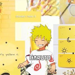 naruto naruto_shippuden narutouzumaki hokage yellow jaune freetoedit