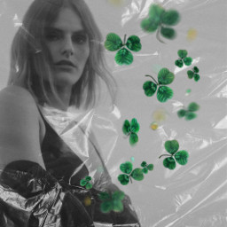 freetoedit unsplash stpatricksday shamrockbrush blackandwhite madewithpicsart plastic