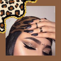 leopard onça makeup freetoedit