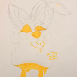 origionalart traditionalart sketch highlighter doodle myoc plantdog