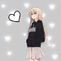 girl animegirl heart anime freetoedit