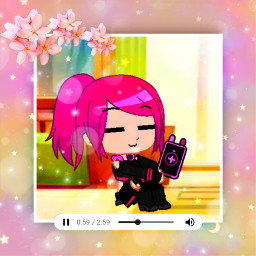 gachaclub gachaedit cute flowers music freetoedit