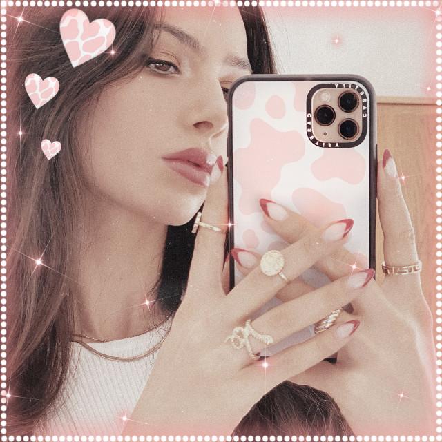 💗🐮 #cute #pink #cow #heart #aecthetic #remixit #freetoedit #sweet #baby #girl #model #pinkaesthetic #white #whiteaesthetic #iphone #emoji #iphoneemoji #sparkle #glitter #neon