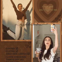 emmachamberlain brown aesthetic brownaesthetic chamberlaincoffee louisvuitton coffee freetoedit