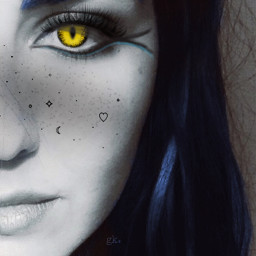 blue snakeeyes freckles shine freetoedit
