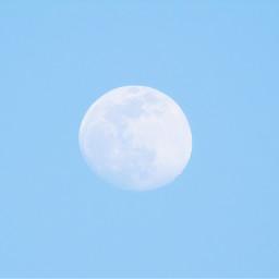 freetoedit moon mooncloseup daylightmoon blu blue bleu azul sky cyan chaand mond luna luminary cielo