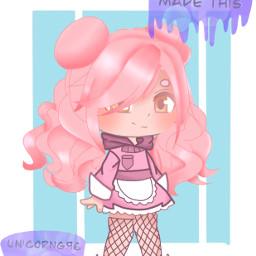 gacha gachaclub pinkhair pink blue procreate pinkhairgacha hair proud edit gachaedit notmyoc freetoedit