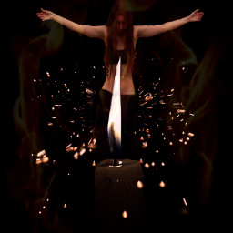 ritual girl candle candlelight sparkle maskeffect madewithpicsart picsartefects stickers myedit freetoedit