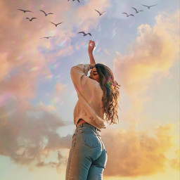 picoftheday photography edit sky instagram inspiration vintageaesthetic vintage aesthetic aestheticedit classic holographic beauty girl fly freetoedit glitter love prismlights