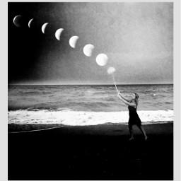 freetoedit moon bwphotography photomanipulation