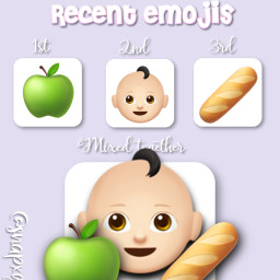 hungrybaby greenapple baguette emojis freetoedit