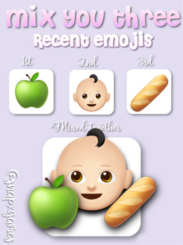 #hungrybaby #greenapple #baguette #emojis