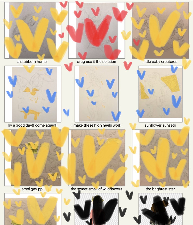 little update of the current projects im currently working on i need to stop procrastinating since i hate line work with a burning passion and just do it 😐‼️ (yellow is for my special someone, blue is sketches ive already posted, red is a trade, and black is part of a school project)  #origionalart #sketch #wip