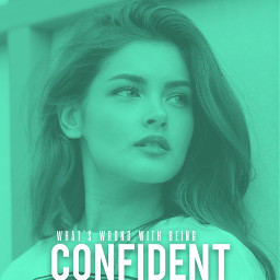 girl woman power confident aqua color shirt hair nice freetoedit