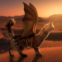 365world giraffe cat bat mutant merged hybrid desert fantasy