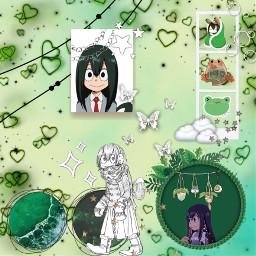 froppy tsu tsuyuasui frog green freetoedit