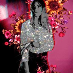 freetoedit person women aestheticedit flower