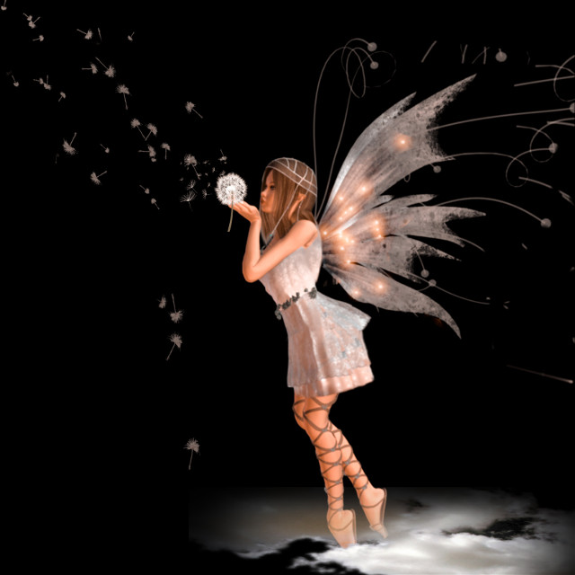 🧚#angel #wings #dandelion #dreams #blackbackground #myedit #madewithpicsart  #picsartstickers #picsarteffects 🧚