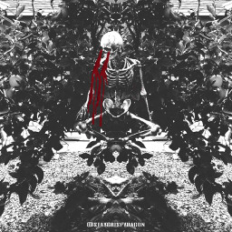 blood trippy blackandwhitephotography skeletonart mirroreffect freetoedit