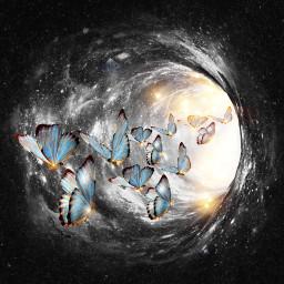 space hole butterflies myedit madewithpicsart picsarstickers picsarteffects freetoedit
