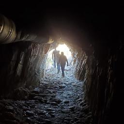 minesshaft exploring tunnel