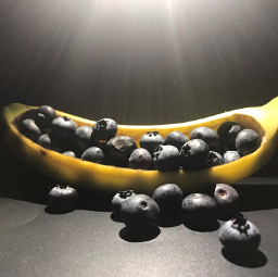 bannana blueberry favoritefruitsandveggies