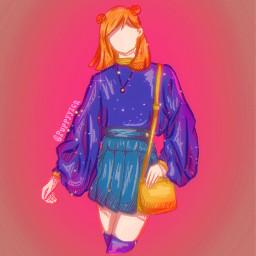 nobara nobarakugisaki kugisakinobara jujutsukaisen jujutsukaisenanime jujutsu jujutsukaisennobara jujutsukaisenfanart animefanart fanart jjk pink blue violet tal aqua orange yellow prettygirl aesthetic aestheticoutfts stars bling sparkles anime