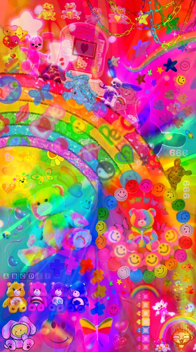 #saturatededit #kidcore #rainbow #rainbows #freetoedit