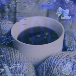 blue traumacore weirdcore odd eyes text mug cold freetoedit unsplash