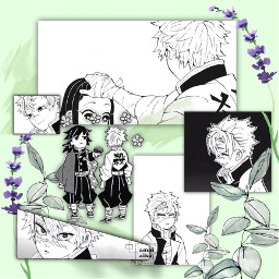 sanemi kimetsunoyaiba shinazugawasanemi demonslayer wind green freetoedit