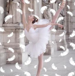 freetoedit aesthetic ballet ballerina white srcwhitefeathers