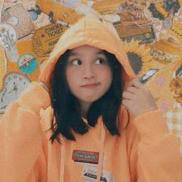 freetoedit yellow honey background aesthetic hoodie