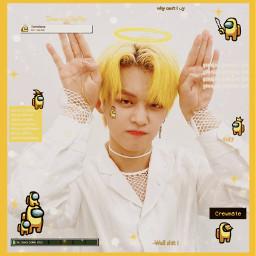 yeonjun txt tomorrowxtogether yellow amongus freetoedit