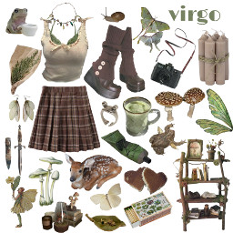 virgo astrology outfit cottagecoreoutfit cottagecoreclothes cottagecore green fairy fairycore freetoedit