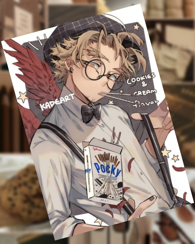Plz READ! -> Ok first.. this Hawks fanart is NOT MINE it belongs  artist named KADEART  Second.. I already did post this a while ago but then it just DISAPPEARED  Howw?? -~- Can you see now 2 similar edits like this? Is ot just my phone or picsart? (I don't get this) Soooooo @pantheworm it was you wanting a baku drawing right? I'm so forgetful *facepalm* anyways I'm going to need a looot more time to finish it.. I had  lot to do so I just started like yesterday *smiling guiltily*  Everything I wanted to say is said and if you came till here.. I hope you have a less confusing and stressed day than me   have fun BYE <3  #hawks #keigotakami #pocky #cookiesandcream #myheroacademia #mha #bnha  🌻*Taglist*🌻  {💖}@girlygirl27  {💎}@ninja_shoyo  {💫}@pizzalover5803  {🐾}@_itz_tokyo-chan_  {💚}@-iloveanime  {🌺}@_mery_grey_  {❄}@icyhawt  {🍣}@hai1kyu  {🌊}@official_bakuhoe  {🍙}@a_fellow-anime_lover  {⚡}@marlin1305  {🎵}@xvictory08x  {🌼}@lovelyshumai  {✨}@animeweeb191  {⚓}@chatbugvs1  {🌕}@-_dxmxnslxyer_-  {🍃}@karisnakasone127  {🌟}@_beautyqueenfrommars  {☁️}@lele312301  {💗}@ivettgyerek  {🎶}@starbucksqueenbee  {🍀}@sophiedophie2015  {🌼}@pantheworm {💥}@_bxkugou_explosion_  {💕}@-eri-chan-  {✨}@silverxstone  {🌙}@kyoka_akabane  Comment if you want to be on my taglist, changed your name or want to be removed  #picsart