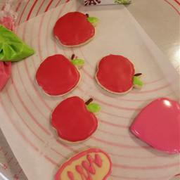 apple fruit cookies creamy biscuits red cream pcfavoritefruitsandveggies favoritefruitsandveggies
