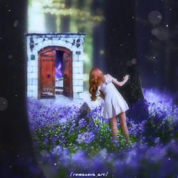myedit freetoedit girl forest magic fantasy