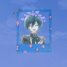 wallpaper shuichisaihara shuichi drv3 shuichiwallpaper blue blueaesthetic sky kpop clouds danganronpa danganronpav3killingharmony mcyt edit pink bts pastel sad miku freetoedit