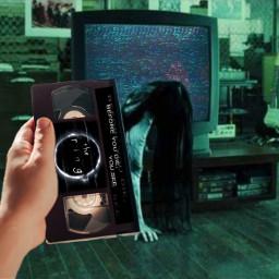challenge scary horror vhs thering creepy movie freetoedit ircvhstape vhstape