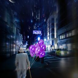 city night moon baloon oldman madewithpicsart heypicsart picsartstickers picsartefects myedit🎈💖 freetoedit myedit