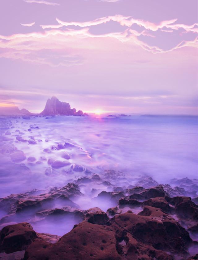 #myedit #madewithpicsart #backgrounds #background #quickedit #sea #pink #sunset #picsarteffects #fittool #stickeroverlay #dodgereffect