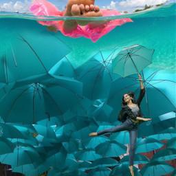 pukalani maui2021 greenone upupandaway umbrella blend floating fantasy sureal freetoedit