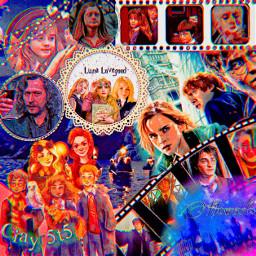 howarts howartsedit hermionegranger hermione ronweasley lunalovegood ginnyweasley clayr5t5
