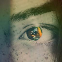 eyes rainbow blackandwhite freckles freetoedit