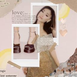 arianagrande vintage yellow edit backround love freetoedit
