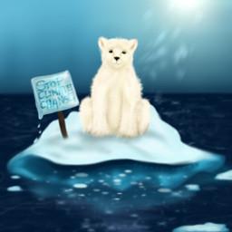 madebyme mydraw mydrawing drawing draw polarbear iceberg climatechange bear ice ocean fcthechangingclimate thechangingclimate