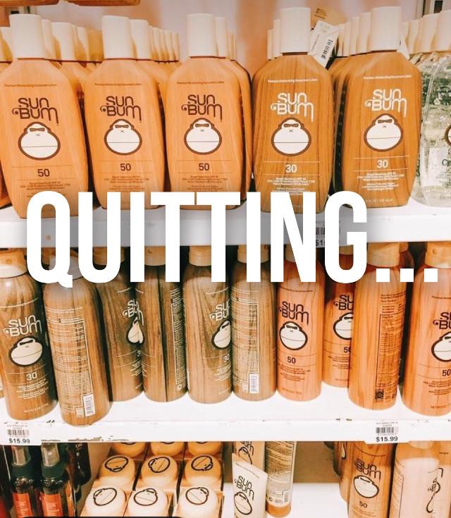 Guys im quitting, goodbye. #bye