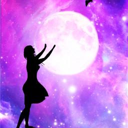 moon galaxy galaxybrush background silhouette silhouettes silhouettegirl girl bird night sky nature nightsky stars starsbackground aesthetic galaxyaesthetic aestheticbackground outterspace purplegalaxy bluegalaxy pinkgalaxy moonlight moonaesthetic starlight freetoedit