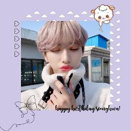 ateez seonghwa seonghwaateez parkseonghwa happyseonghwaday happybirthday love sweet cute idol art kpop kpopedit purple atiny freetoedit