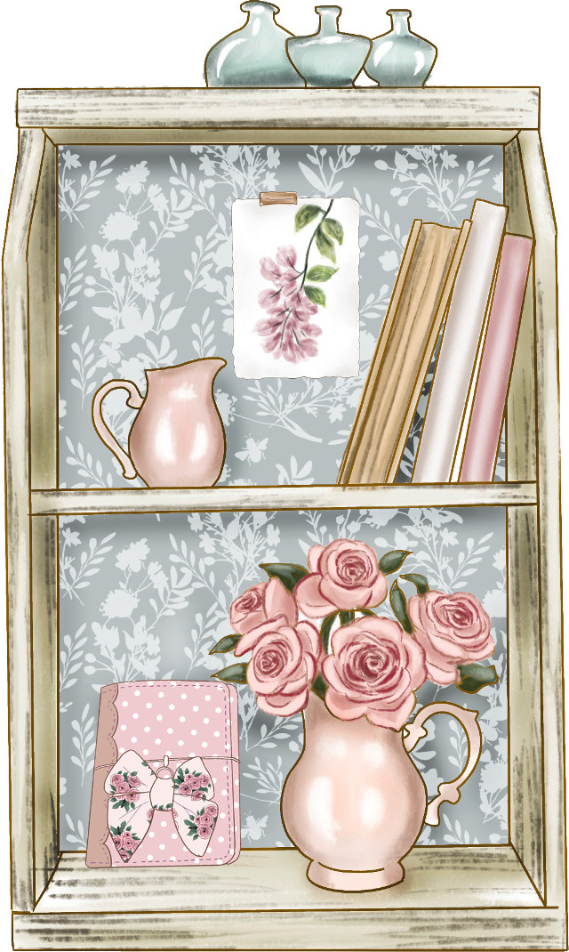 #spring #countrystyle #springflowers #pinkflowers #vase #countryside #bookshelf #farmhouse